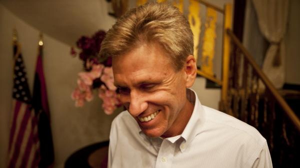 U.S. officials and Libyan militiamen met to discuss the deteriorating security in Benghazi just two days before the attack that killed Ambassador Chris Stevens and three other Americans. Stevens is shown here at the consulate in June.