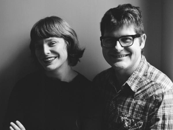 Colin Meloy's wife, Carson Ellis (left), illustrated <em>Under Wildwood</em>. Ellis also serves as illustrator-in-residence for The Decemberists.