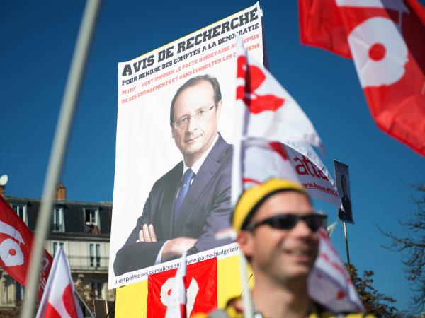 Just a few months ago, supporters rallied in the streets for the election of Francois Hollande. Now, some of the same people are protesting against the French president. Leftist parties and unions organized this anti-austerity protest in September.