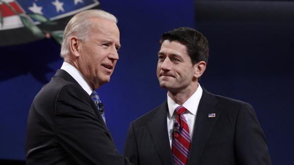 Both Vice President Joe Biden and GOP vice presidential candidate Paul Ryan, shown at their debate on Thursday, are practicing Catholics.