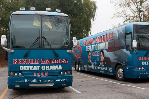 The Campaign to Defeat Barack Obama, a small-donor PAC, has launched a bus tour to reach conservative voters in hotly contested states, while trying to raise money to launch an anti-Obama TV ad.