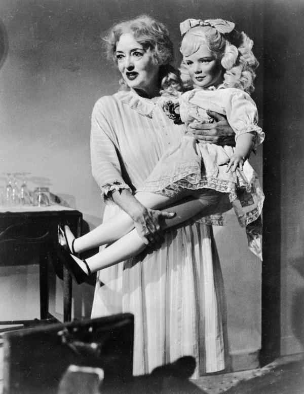 Bette Davis in the role of Jane Hudson in<em> </em><em>What Ever Happened To Baby Jane? </em>The classic horror film, which has just turned 50, is being released on Blu-ray
