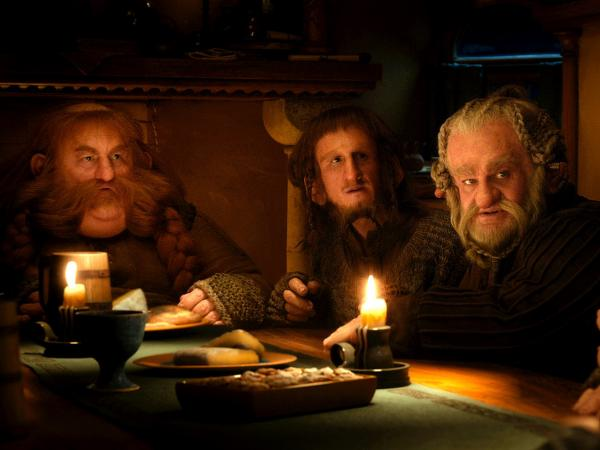 It wouldn't be a Tolkien adventure without dwarfs like Bombur (Stephen Hunter, left), Ori (Adam Brown) and Dori (Mark Hadlow).
