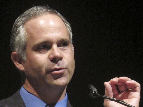 "Rep. Tim Huelskamp, R-Kan., shown in 2010, has said he would deserve a primary challenge if he voted for House Speaker John Boehner's ""fiscal cliff"" proposal, which would extend the Bush-era tax cuts only on income of less than $1 million."