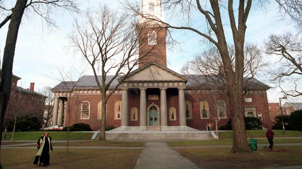 Top schools like Harvard, seen here in 2000, often offer scholarships and other financial incentives, but they are finding it hard to increase the socioeconomic diversity on campus.