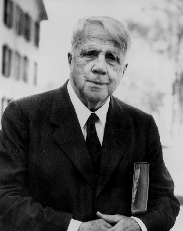 American poet Robert Frost, shown here in 1955, died on Jan. 29, 1963. Now, 50 years after his death, a rare collection of letters, audio and photographs sheds new light on his religious beliefs.