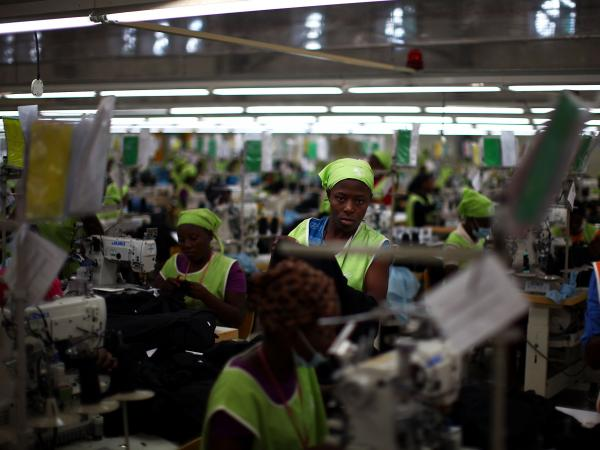 Workers at the SAE-A textile plant inside the Caracol Industrial Park in northern Haiti earn $5 a day. Backers of the project say it could create 60,000 jobs inside the park.