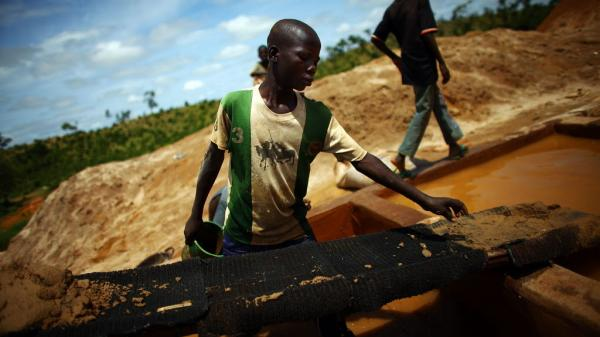 A boy works at an illegal gold mine in northern Nigeria. Lead from these mines has sickened thousands of children in region.