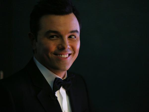 Host Seth MacFarlane backstage during the Oscars ceremony Sunday night in Hollywood.