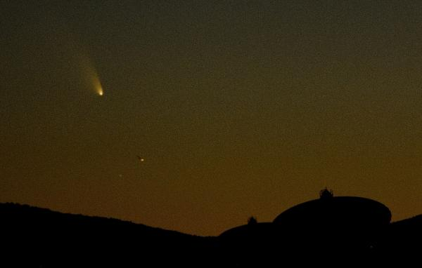 Comet PanSTARRS in the sky above Magdalena, N.M., on March 12.