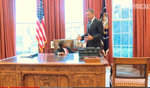 Kid President meets with President Obama.