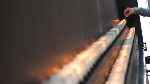In the Hall of Remembrance at the U.S. Holocaust Memorial Museum, visitors can light candles in memory of the 6 million Jews killed by the Nazis and their collaborators during World War II.