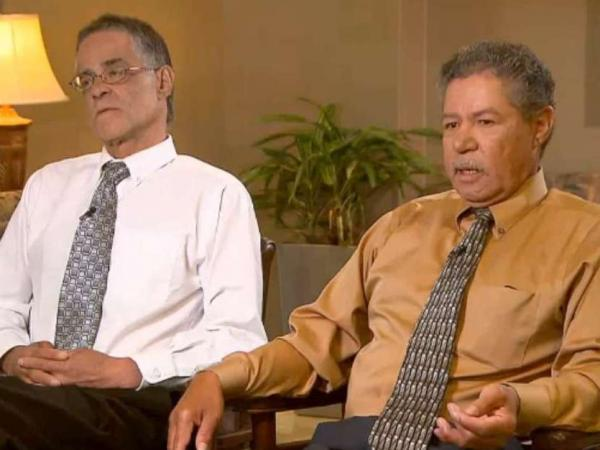 Onil (left) and Pedro Castro in an exclusive interview broadcast Monday morning on CNN.