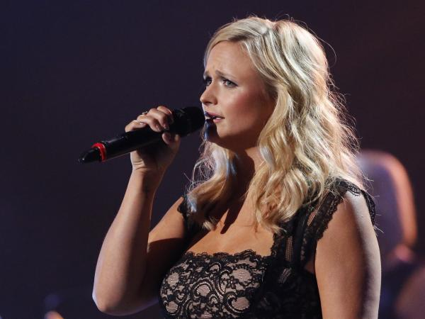 Miranda Lambert during her performance at Wednesday's Healing in the Heartland: Relief Benefit Concert in Oklahoma City.