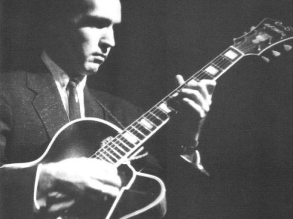 The cover image of <em>The Complete Roost Johnny Smith Small Group Sessions</em>, a 2002 box set of work from across the jazz guitarist's career.