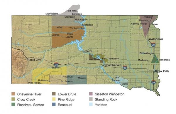 South Dakota is home to nine tribes.