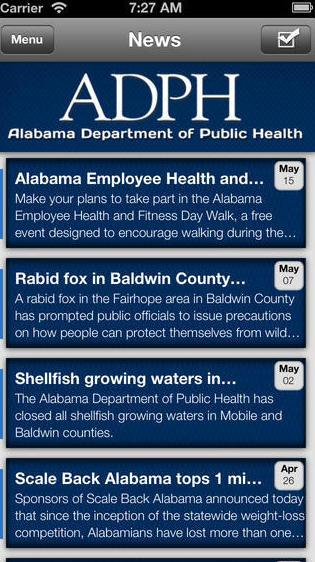 Alabama health news, beamed to your phone.