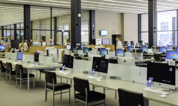 The Martin Luther King Jr. Memorial Library in Washington, D.C., has opened a Digital Commons that features rows of desktop computers, portable electronic devices and even a 3D printer.
