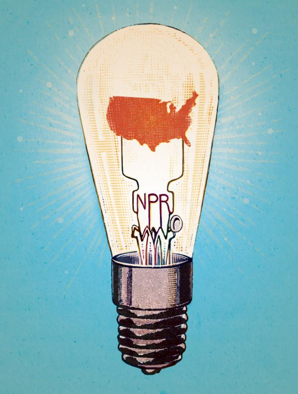 Leigh Guldig's illustration for the 2014 NPR Wall Calendar.