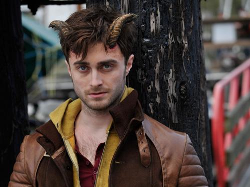 Daniel Radcliffe has horns in the film ... <em>Horns</em>.