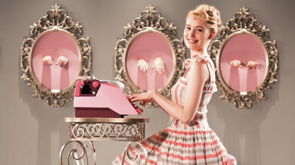 <em><strong>Ses Doigts, Sont Adroits:</strong> </em>Deborah Francois proves adept with the titular typewriter in <em>Populaire.</em>