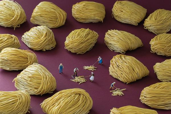 "<em>Noodle Haystacks</em>: ""During harvest time, all the cult members had to pitch in, even Prophet Geoffrey himself."""