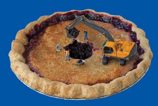 "<em>Pie Excavators</em>: ""Despite their best efforts, they never did manage to find Cecil's lost wedding ring."""