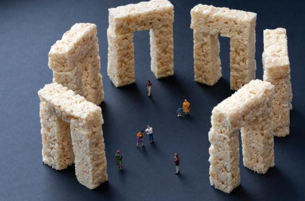 "<em>Rice Krispies Treats Stonehenge</em>: ""Famous landmarks always look different from how they appear in photographs."""