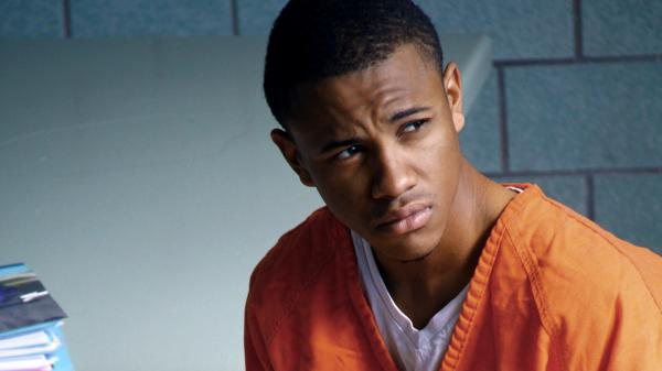 Tequan Richmond plays Lee Boyd Malvo, the younger of a pair of killers, as he is indoctrinated by his father figure (Isaiah Washington) in <em>Blue Caprice</em>.