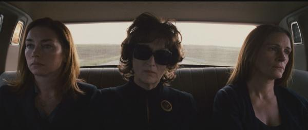 Julianne Nicholson, Meryl Streep, and Julia Roberts in <em>August: Osage County</em>.