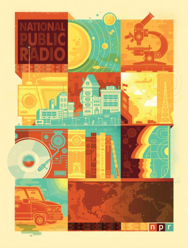 Graham Erwin's art for the 2014 NPR Wall Calendar.