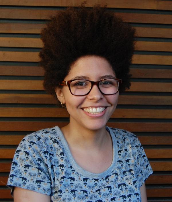 Brazilian writer Yasmin Thayná, 20, participated in a local program aimed at cultivating artistic talent in low-income communities.