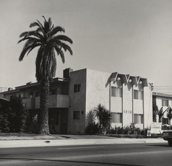 "Ruscha published numerous artist books in the 1960s and '70s, most of them focused on mundane aspects of the urban landscape. Shown here: <em><em>1018 S. Atlantic Blvd,</em></em> an image from <a href=""http://www.npr.org/blogs/pictureshow/2013/04/17/177685918/revisiting-some-los-angeles-apartments"">Some Los Angeles Apartments</a>, published in 1965."