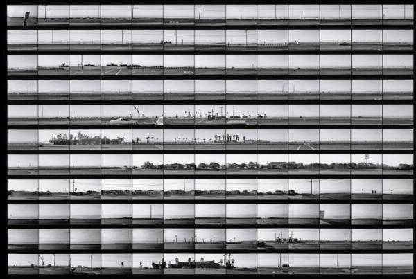 The Getty Museum's exhibit includes rarely seen contact sheets from Ruscha'€™s photographic archive, including this continuous take of the Pacific Coast Highway, from 1974-75.