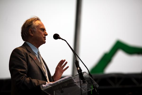 "Richard Dawkins, founder of <a href=""http://www.richarddawkins.net/"">The Richard Dawkins Foundation for Reason and Science</a>, speaks at the March 2012 ""Reason Rally"" on the National Mall in Washington, D.C."