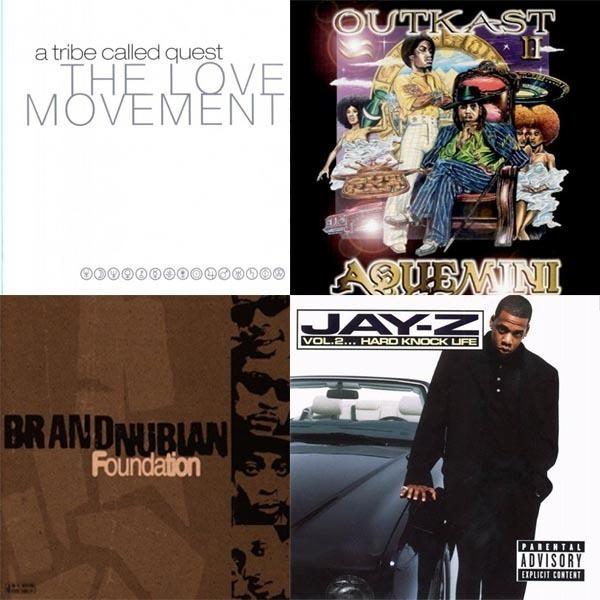 A Tribe Called Quest, <em>The Love Movement</em> vs. OutKast, <em>Aquemini</em> vs. Brand Nubian, <em>The Foundation</em> vs. Jay-Z,<em> Vol. 2, Hard Knock Life</em>
