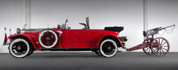 This 1925 Rolls-Royce Phantom I Maharaja comes with its own big game guns. It goes up for sale on Saturday in Las Vegas.