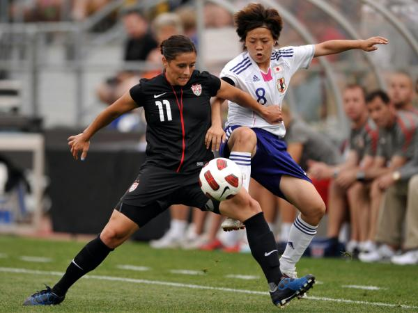 <strong>A Good Luck Charm?</strong> The U.S. women's team is undefeated when wearing all black since the uniforms were introduced on May 14. In that game against Japan, Ali Krieger battled for control of the ball.