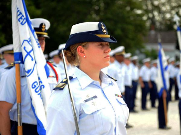 The Coast Guard Academy class of 2015 is about one-third women.