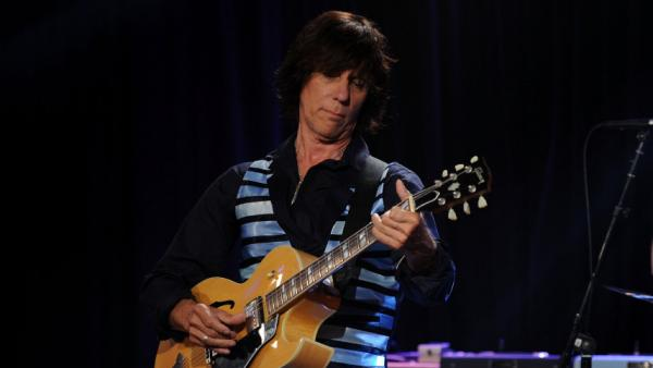 <p>Jeff Beck performs at Les Paul's 95th-birthday party at Iridium Jazz Club on June 9, 2010, in New York City.</p>