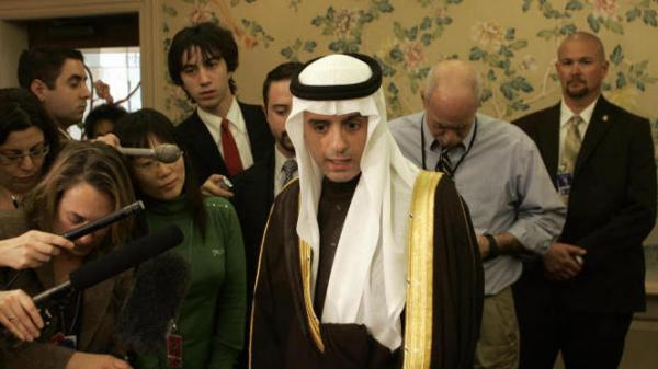 <p>The Saudi ambassador to the U.S., Adel al-Jubeir, speaks to the press in Annapolis, Md., in 2007. The U.S. government said Tuesday that elements in the Iranian military plotted to kill the ambassador.</p>