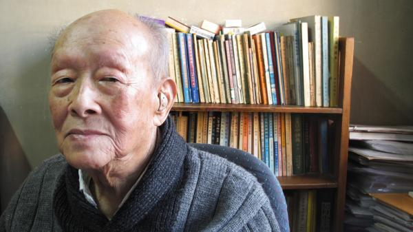 <p>Zhou Youguang, founder of the Pinyin system of romanizing the Chinese language, has published 10 books since turning 100, some reflecting his critical views of the Chinese government. Shown here in his book-lined study, the outspoken Zhou has witnessed a century of change in China.</p>