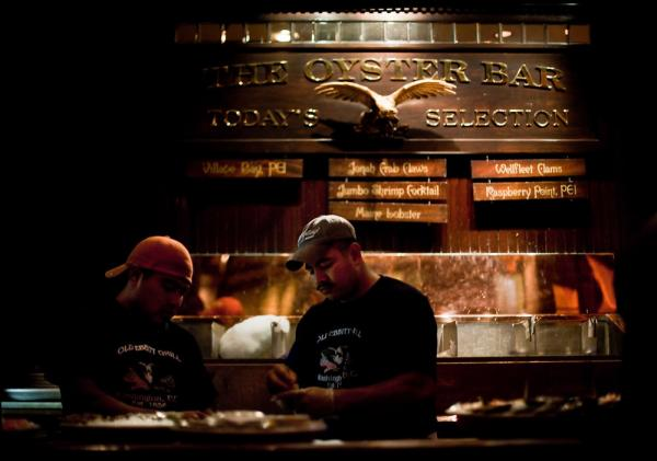 <p>Old Ebbitt Grill serves oysters from five to six different locales at any given time.</p>