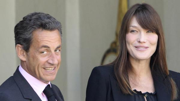 <p>A file photo of France's President Nicolas Sarkozy and his wife Carla Bruni-Sarkozy.</p>