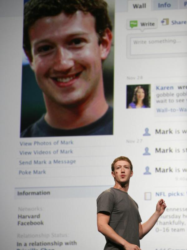 <p>If a high number of Facebook friends gives you a bigger brain, then CEO Mark Zuckerberg, seen here in Sept., must have one massive cortex.</p>