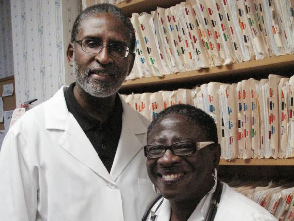 <p>Dr. Brenda Williams, right, with her husband, Dr. Joe Williams, in their Sumter, S.C. medical clinic. The two routinely register their patients to vote. Brenda also seeks out new voters at the county jail. </p>