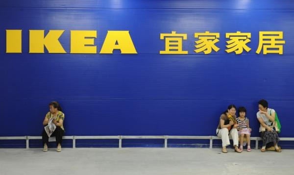 <p>Customers wait to enter an IKEA store in Nanjing. The first IKEA in China opened in Beijing in 1998. </p>