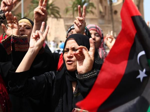 Libyan women at an Eid al-Fitr service in Tripoli in September. Many women played important roles in the rise against Moammar Gadhafi's regime.