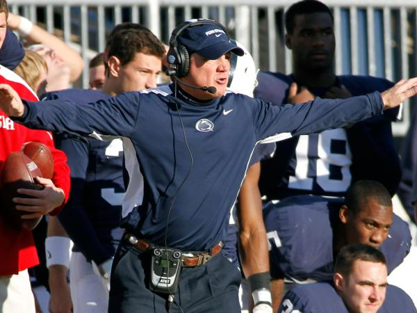 Interim Penn State football coach Tom Bradley, shown here at a Nov. 12 game against the Nebraska Cornhuskers, is now focused on Saturday's game against Ohio State.