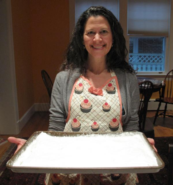 <em>All Things Considered</em> co-host Melissa Block shows off marshmallows she made from scratch using a recipe from Jennifer Reese's book, <em>Make the Bread, Buy the Butter.</em>